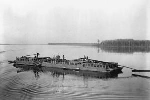 Flatboat on the Mississippi River