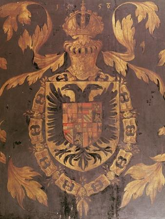 Coat of Arms of Charles V, Holy Roman Emperor, 1558 (Oil on Panel