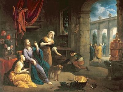 Jesus at the Home of Martha and Mary by Flemish School