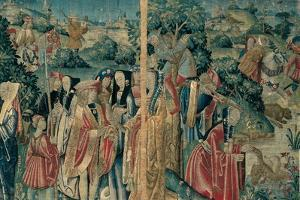 Tapestry with Hunting Scene, Flemish, 1470-1480. Urbino, Italy by Flemish weavers