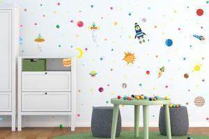 Flexi Mini Mysterious Stcikers Galaxy Wall, DIY, Home Nursery Decoration