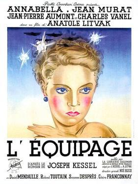 Flight Into Darkness, (aka L'equipage), French poster art, Annabella, 1935
