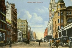 Flinders Street, Melbourne, Victoria, Australia, C1900s