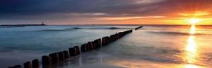 Ocean Sunset by Fline