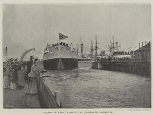 Floating of HMS Majestic at Portsmouth, 31 January