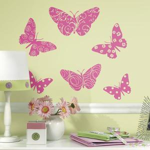 Flocked Butterfly