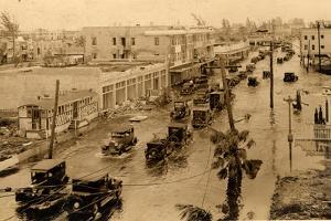 Flooded Miami Street after the Hurricane, 1926