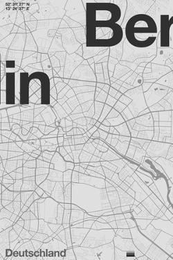 Berlin Minimal Map by Florent Bodart