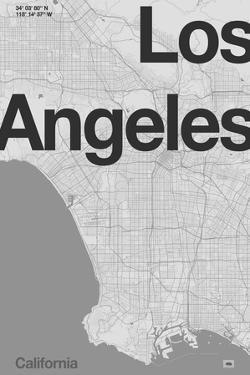 Los Angeles Minimal Map by Florent Bodart