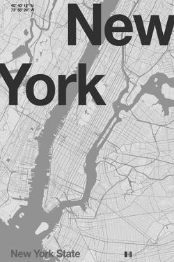 New York Minimal Map by Florent Bodart