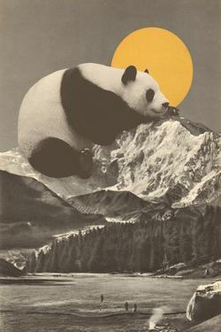 Panda's Nap into Mountains by Florent Bodart