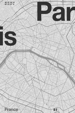 Paris Minimal Map by Florent Bodart