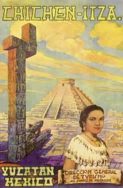 Chichen Itza - Yucatan, Mexico - El Castillo Mayan Pyramid by Flores Esp