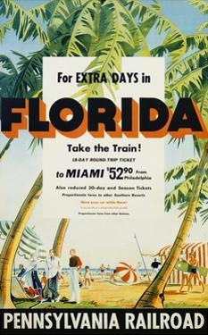 Florida, Pennsylvania Railroad Poster