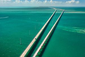 Aerial View Looking West along the Seven Mile Bridge of Us1 to the Florida Keys by FloridaStock