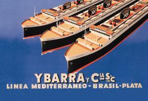 Ybarra and Company Mediterranean-Brazil-Plata Cruise Line by Flos