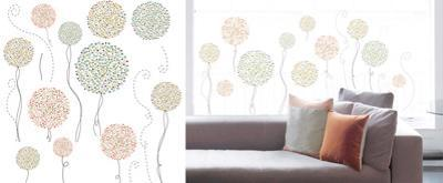 Flower Balloons Window Sticker Decal