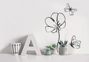 Flower / Fleur & papillons