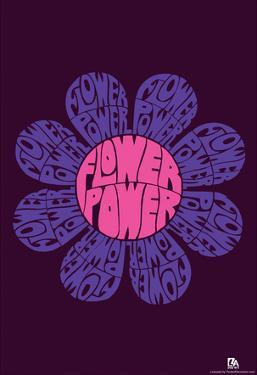 Flower Power Text Poster