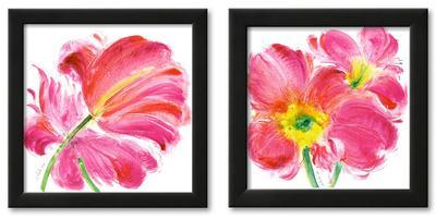 Flowers Symphony Art Print Framed Set