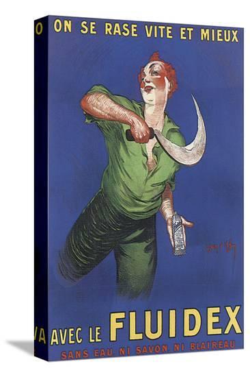 Fluidex, on Se Rase Vite Et Mieux-Jean D' Ylen-Stretched Canvas Print