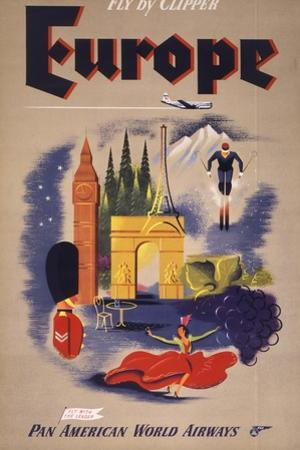 Fly by Clipper: Europe; Pan American World Airways