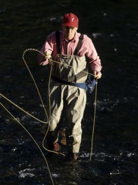 Fly Fisherman, Florida, USA