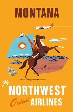 Fly Northwest Orient Airlines: Montana, c.1950s