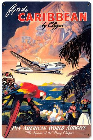Fly the Caribbean Steel Sign
