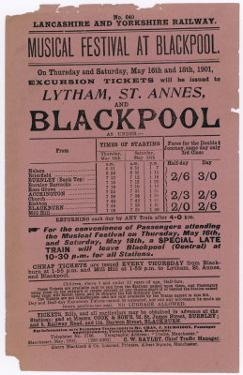Flyer Issued by the Lancashire and Yorkshire Railway by Flyer