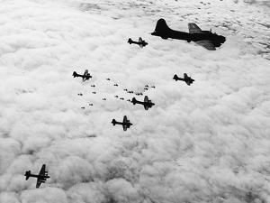 Flying Fortresses in Flight over Germany