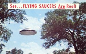Flying Saucers are Real, Retro