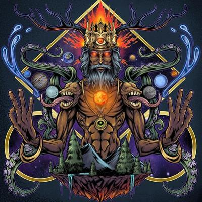 Psychedelic Meditating Mystic by FlyLand Designs