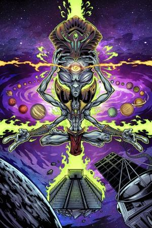 Psychedelic Space Alien by FlyLand Designs