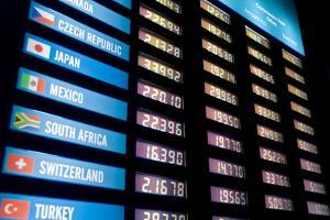 Currency Exchange Rate Board by Flynt