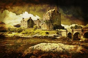 Old Scottish Castle in Distressed Vintage Style by Flynt