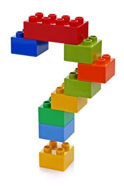 Question Mark Made from Plastic Building Blocks by Flynt