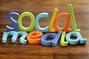 Social Media Written In Foam Letters Concept For Social Networking Within Youth Culture by Flynt