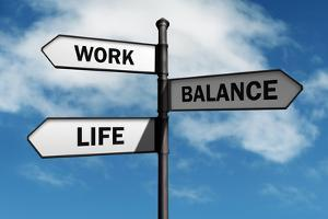 Work-Life Balance Road Sign Concept for Healthy Lifestyle and Wellbeing Choice by Flynt