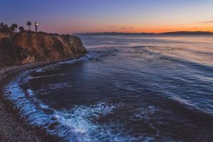 Beautiful Coastal View of Point Vicente Lighthouse atop the Steep Cliffs of Rancho Palos Verdes, Ca by focqus