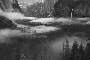 Fog Floating in Yosemite Valley