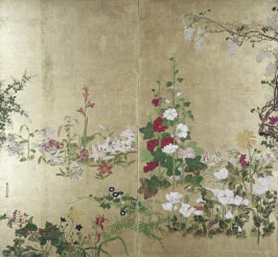 Folding Screen with Flowers