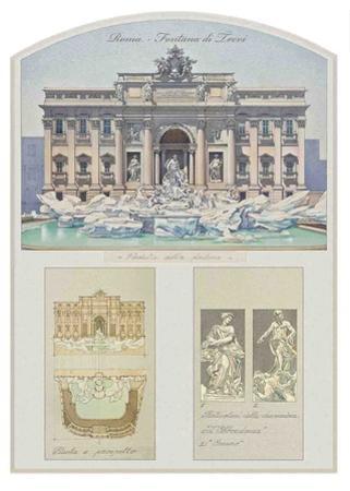 Fontana Di Trevi (Trevi Fountain) Architectural Details