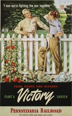 Food Fights for Victory, Plant a Victory Garden Poster