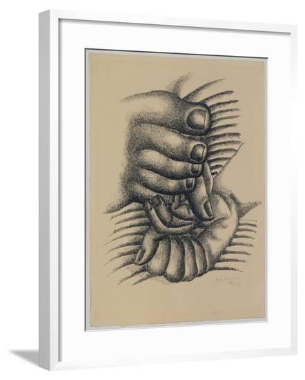 Foot and Hands--Framed Giclee Print