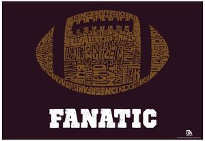 Football Fanatic Text Poster