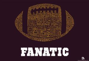 Football Fanatic Text Poster
