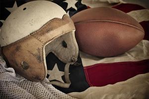 Football Helmet Pigskin & Flag
