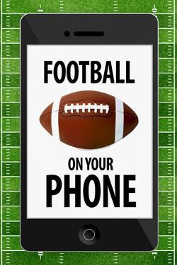 Football On Your Phone Humor Plastic Sign