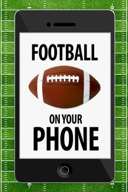 Football On Your Phone Humor Poster